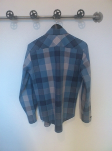 Checked shirt - back