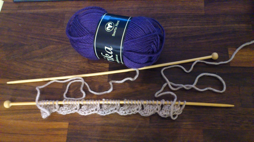 Entrelac Knitting - First row