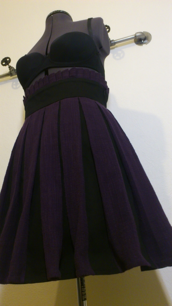 Purple steampunk skirt - front