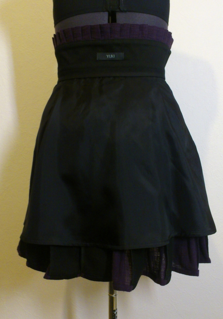 Purple steampunk skirt - inside
