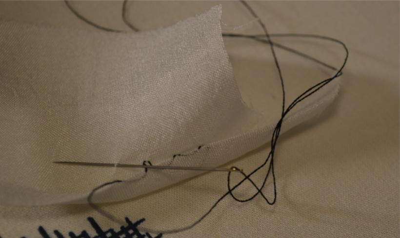 Using this type of stitch, the seam is invisible from both sides.
