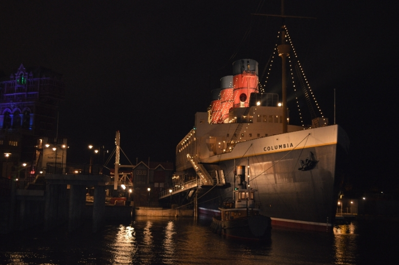 """Titanic"" at night, quite a view."