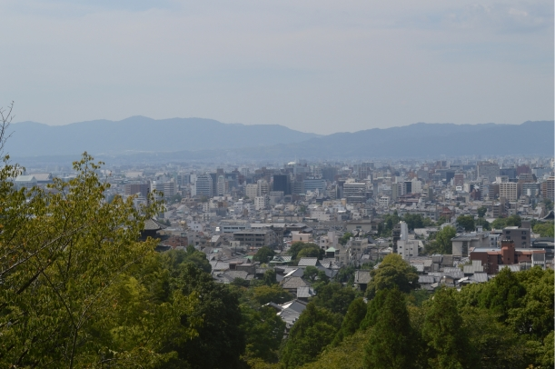 The view over Kyoto.