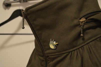 The collar - of course with my Totoro pin I got at the Ghibli museum in Mitaka.