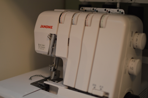My new serger, a Janome MyLock 644D